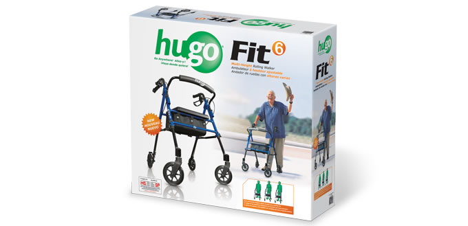 hugo elite rolling walker manual