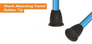Shock Absorbing Flared Rubber Tip