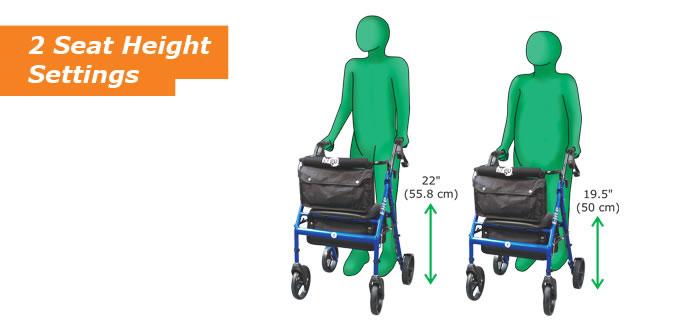 Hugo Elite Rolling Walker with Seat – Hugo Mobility