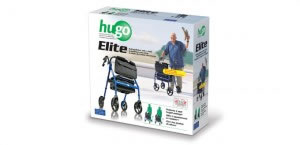 Hugo Elite Rolling Walker with Seat, retail box
