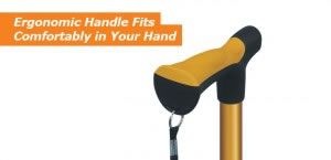 Hugo Folding Cane's Ergonomic Handle Fits Comfortably in Your Hand