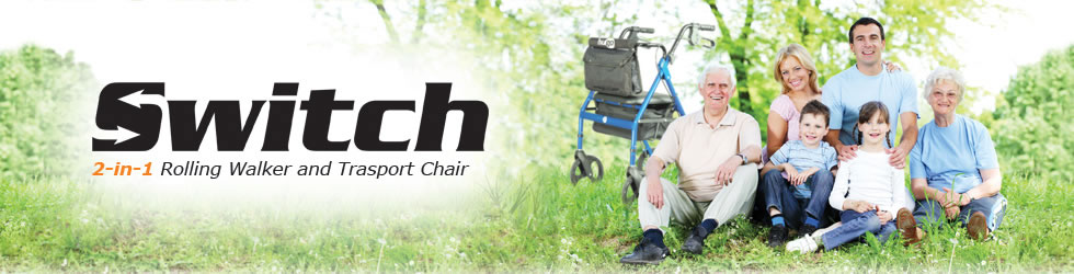Hugo Mobility Rollator - Switch