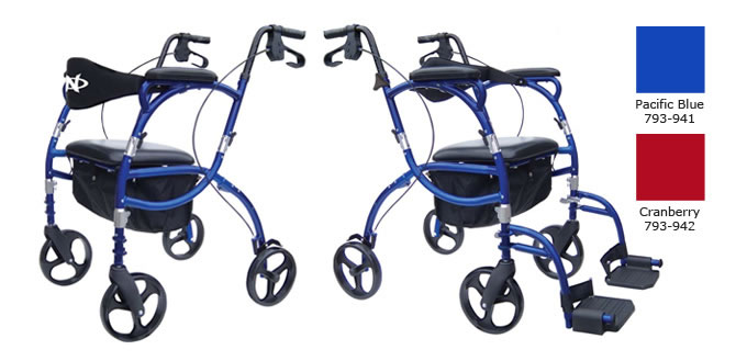 Hugo Navigator Rolling Walker Transport Chair
