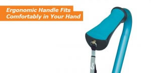 Hugo Offset Cane, Ergonomic Handle Fits Comfortably in Your Hand