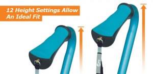 Hugo Offset Walking Cane's 12 Height Settings Allow An Ideal Fit