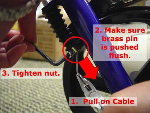 Brake tightening step 4 - Hugo Rollators