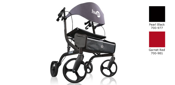 Hugo Explore Rolling Walker, Pearl Black or Garnet Red