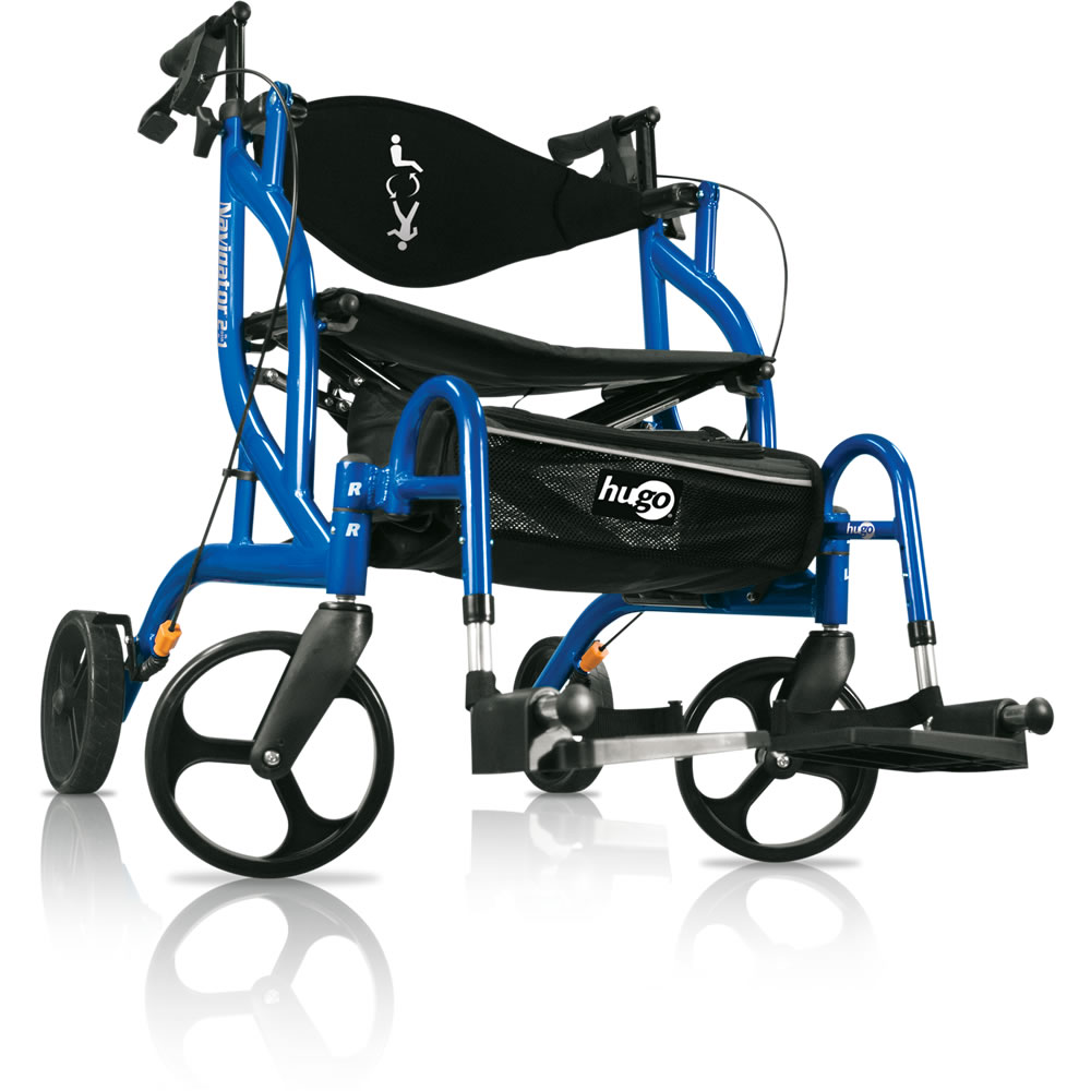 Hugo Navigator Rollator & Transport Chair – Hugo Mobility