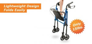 Hugo Fit 6 Rolling Walker, Lightweight Design, Only 15 Lbs.