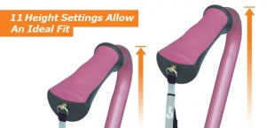 Hugo Quad Cane's 11 Height Settings Allow An Ideal Fit