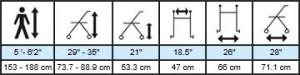 Hugo Navigator Rolling Walker Transport Chair, Specifications