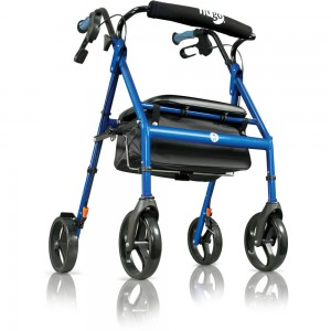Hugo Rolling Walker with Seat, Comfort Curved Backrest