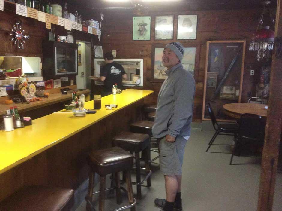 Vern at Pollard Flats restaurant