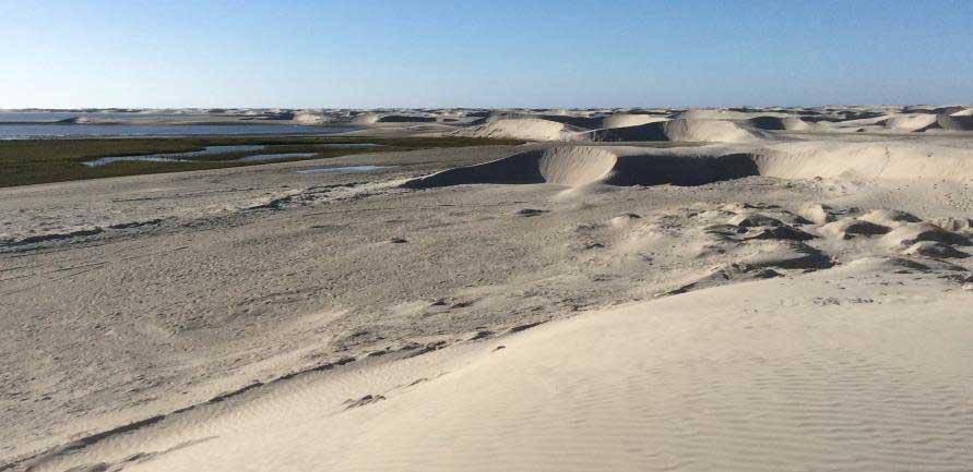Sand dunes in La Espinita, Baja California Norte