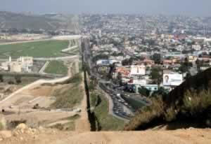USA on the left, Tijuana on the right.