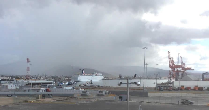 Ensenada Harbour with Cruise Ship